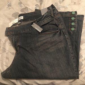 Lane Bryant Venezia Brand Jean Capris Sz22 NWT